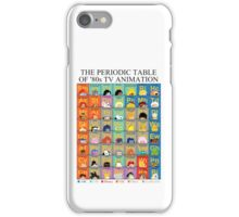 The Periodic Table of 80s TV animation iPhone Case/Skin
