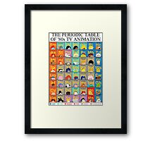The Periodic Table of 80s TV animation Framed Print