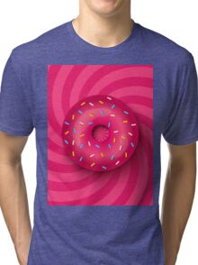 Pink donut  Tri-blend T-Shirt