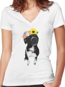 Wilbur Women's Fitted V-Neck T-Shirt