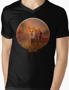 Wise Fox Mens V-Neck T-Shirt