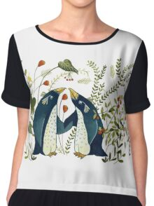 pinguin friends Chiffon Top