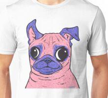 Pastel Pink Pug Unisex T-Shirt