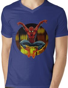 Spidey Drops By Mens V-Neck T-Shirt