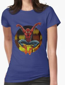 Spidey Drops By Womens Fitted T-Shirt