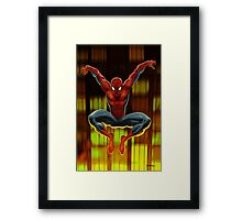 Spidey Drops By Framed Print