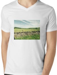 Plowing Ye Olde Fields - Eng. Countryside Mens V-Neck T-Shirt