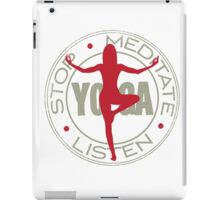 Stop! Meditate and Listen  iPad Case/Skin
