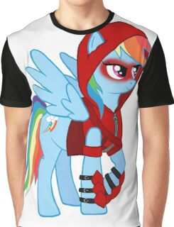 Rainbow Dash Red Arrow Graphic T-Shirt