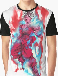 Goku God Blue Kaioken x10 Graphic T-Shirt
