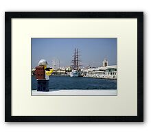 The Lego Backpacker in Malaga Framed Print