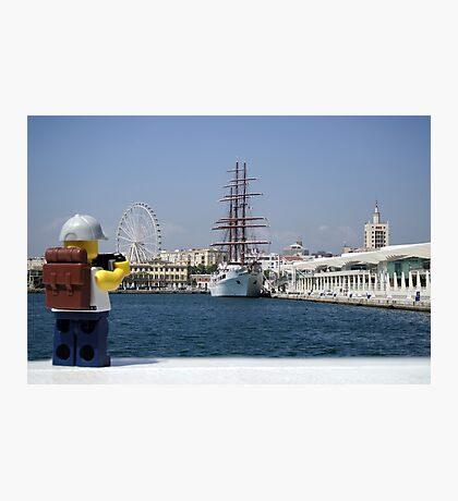 The Lego Backpacker in Malaga Photographic Print