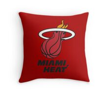 Miami Heat Throw Pillow