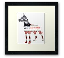 Patriotic Great Dane Framed Print