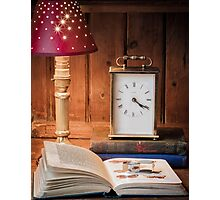 Still life with lamp Photographic Print