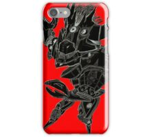 Black and Red Pointy Guy iPhone Case/Skin