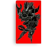 Black and Red Pointy Guy Canvas Print