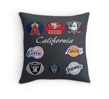 California Professional Sport Teams Collage  Throw Pillow