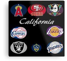 California Professional Sport Teams Collage  Metal Print