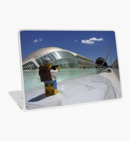 The Lego Backpacker in Valencia Laptop Skin