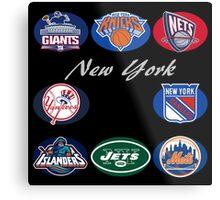 New York Professional Sport Teams Collage  Metal Print