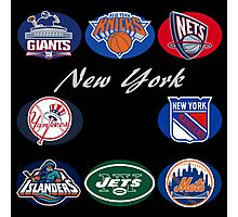 New York Professional Sport Teams Collage  Photographic Print