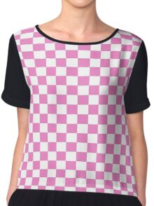 Pink Check Bedspread - Girls Room Duvet Phone Cover Chiffon Top