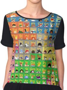 The Periodic Table of TV animation Women's Chiffon Top