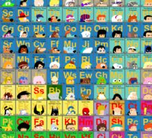 The Periodic Table of TV animation Sticker