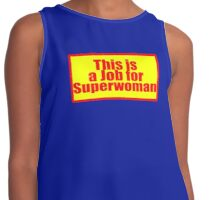 This is a job for Superwoman - Shirt & Sticker Contrast Tank