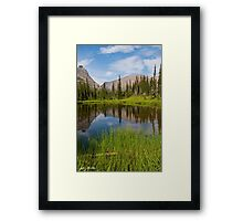 Mountains Reflected in an Alpine Lake Framed Print