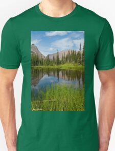Mountains Reflected in an Alpine Lake Unisex T-Shirt