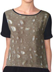 Marble Droplets Chiffon Top