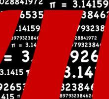 Pi Symbol Red  Sticker
