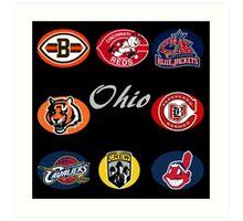 Ohio Professional Sport Teams Collage Art Print