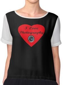 I Love Photography Shirt and Sticker Chiffon Top