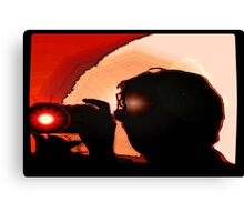 Photographers silhouette  Canvas Print