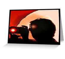 Photographers silhouette  Greeting Card
