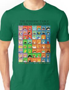The Periodic Table of 90s TV animation T-Shirt