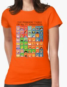 The Periodic Table of 90s TV animation Womens Fitted T-Shirt