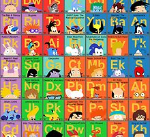 The Periodic Table of 90s TV animation by Mike Boon