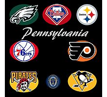Pennsylvania Professional Sport Teams Collage  Photographic Print