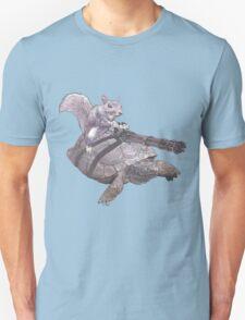 WACKY BACKYARD BATTLE ANIMAL SQUIRREL TURTLE GAMER GEEK WARFARE Unisex T-Shirt