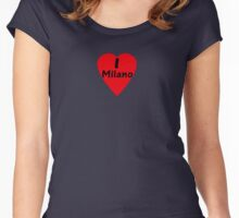 I Love Milano - I Heart Milan Italy T-Shirt Women's Fitted Scoop T-Shirt