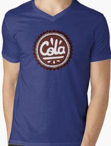 Cola Bottle Tops Pattern Mens V-Neck T-Shirt