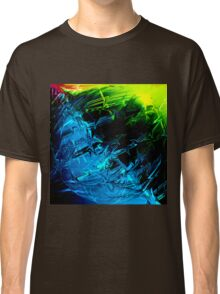 Electric Lightning Green Blue Pink Abstract Sphere Classic T-Shirt