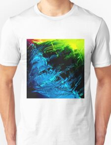 Electric Lightning Green Blue Pink Abstract Sphere Unisex T-Shirt