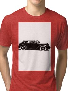 Old car carriage vintage, steampunk, old vehicle illustration Tri-blend T-Shirt