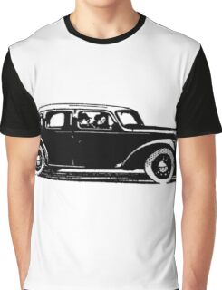 Old car carriage vintage, steampunk, old vehicle illustration Graphic T-Shirt