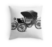 Old car carriage vintage, steampunk, old vehicle Throw Pillow